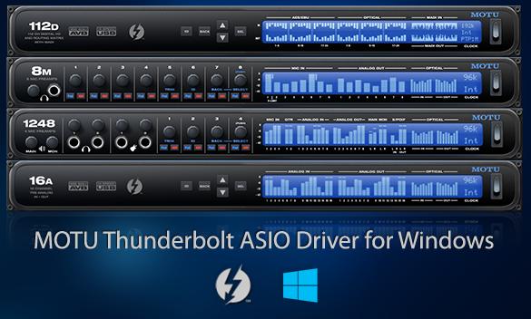 MOTU Thunderbolt ASIO driver for Windows