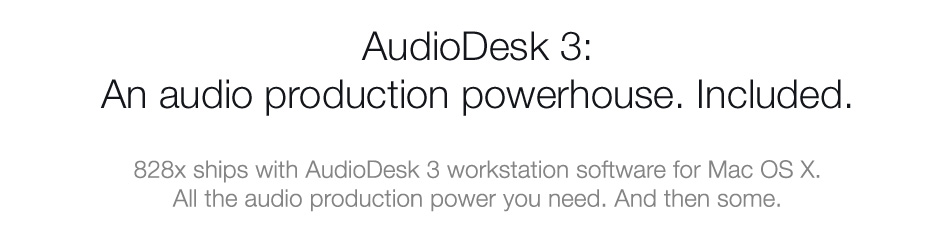 AudioDesk 3: An audio production powerhouse. Included.