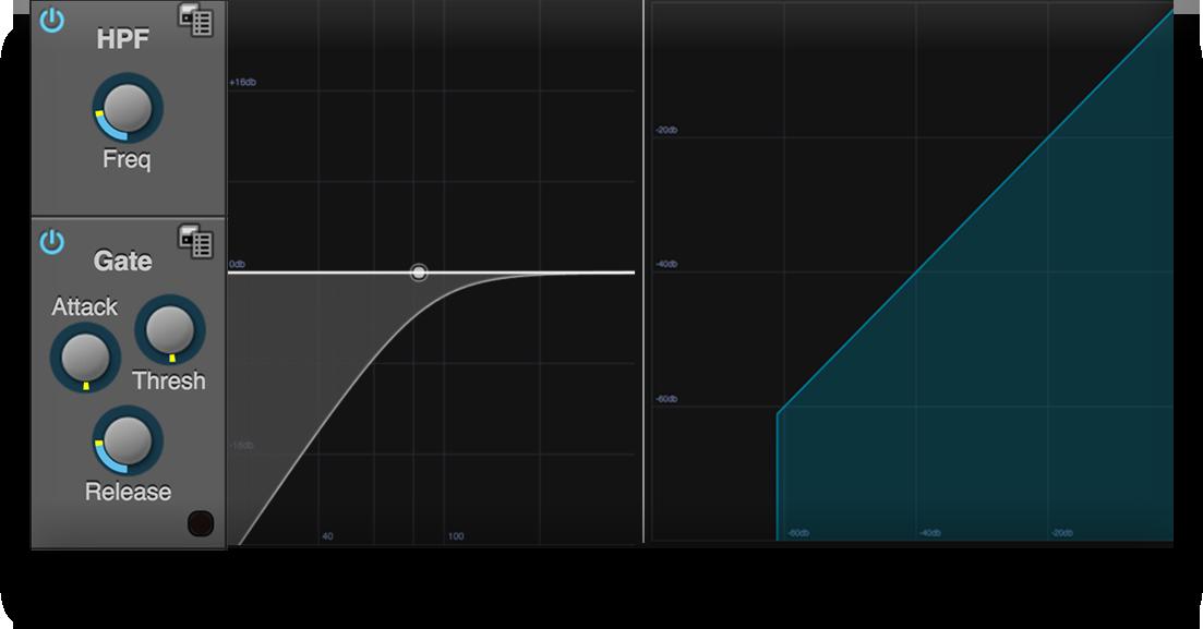 MOTU Pro Audio gate and HPF