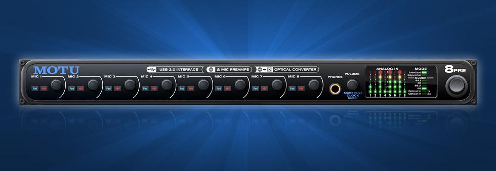 Audio/midi Interfaces Supply Motu 8pre Musical Instruments & Gear