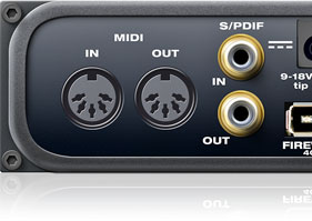 MIDI input and output