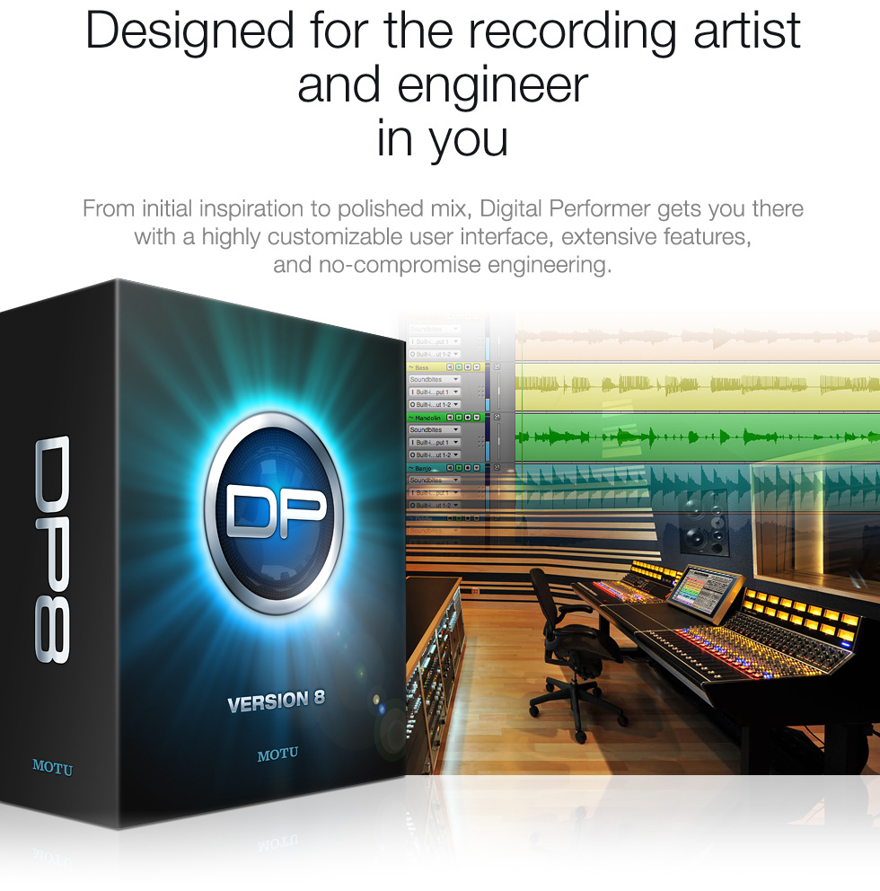 Designed for the recording artist and engineer in you