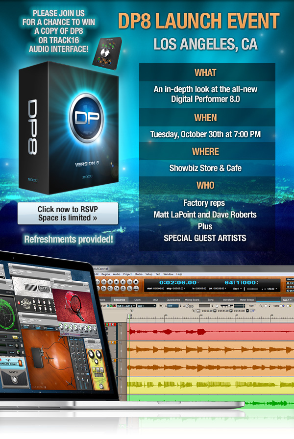 Click to RSVP to MOTU DP8 Launch Event