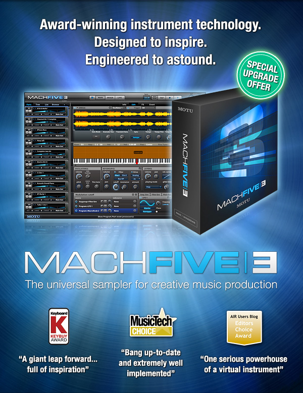 MachFive 3: award-winning instrument technology. Designed to Inspire. Engineered to astound.