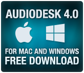 AudioDesk 4.0 for Mac and Windows