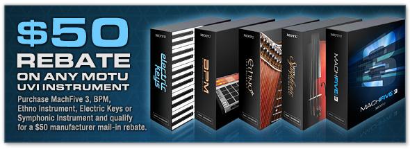 Save $50 on any MOTU UVI instrument product