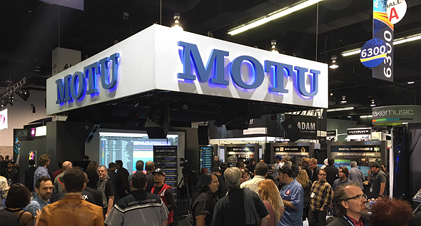 MOTU NAMM booth crowds
