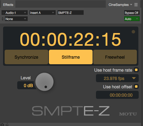 DP's SMPTE-Z plug-in
