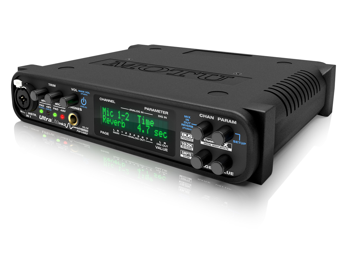 MOTU ULTRALITE MK3 HYBRID FIREWIRE AUDIO INTERFACE